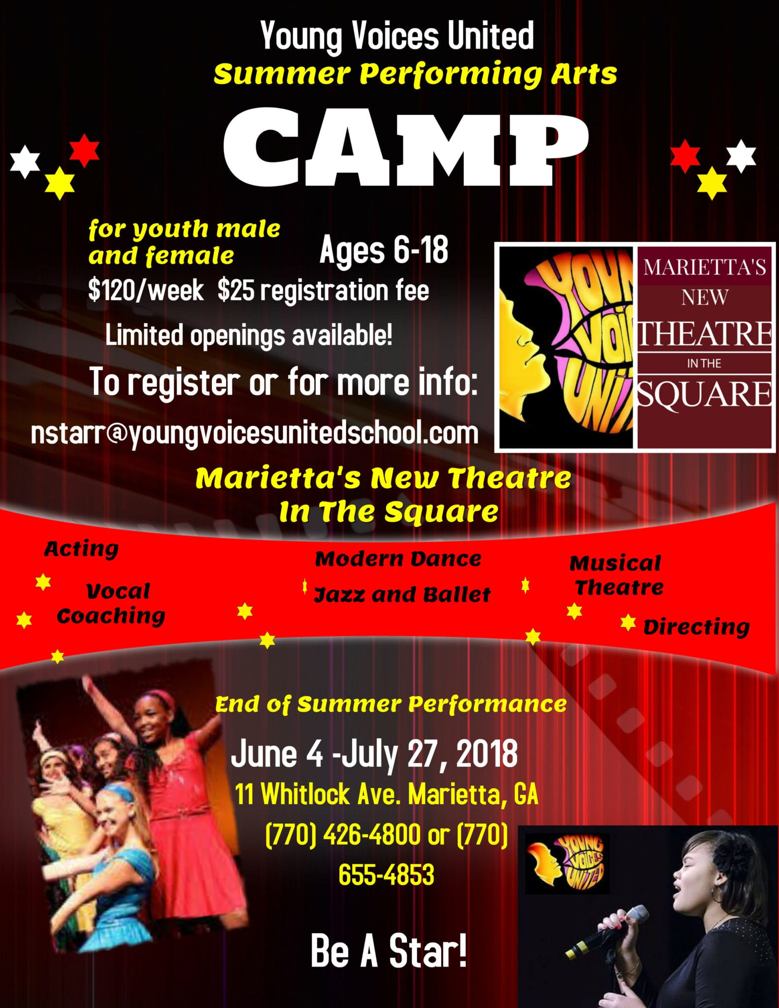 Sign Up For Summer Camps 2019 Mariettas Theatre In The Square